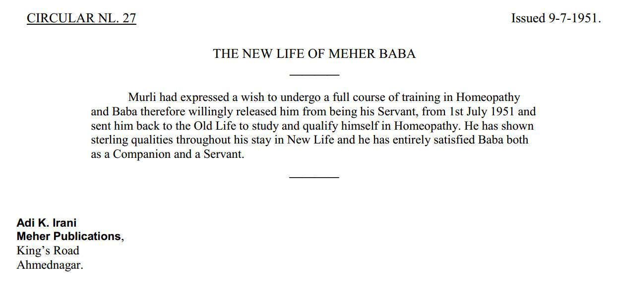 New Life Circular 27 - Baba releases Murli