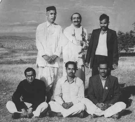 Murli Kale with Meher Baba - Meherabad Hill 1954